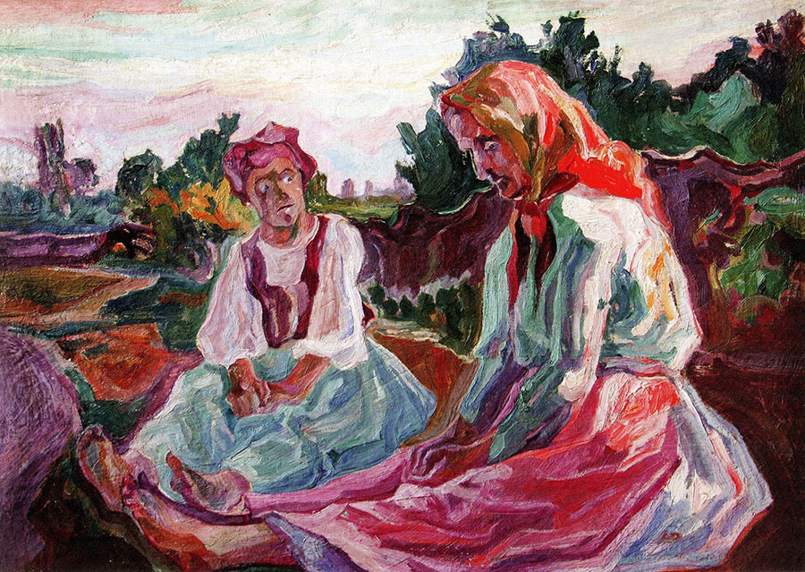 Алексей (Олекса) Новаковский. Two old women contemplate death