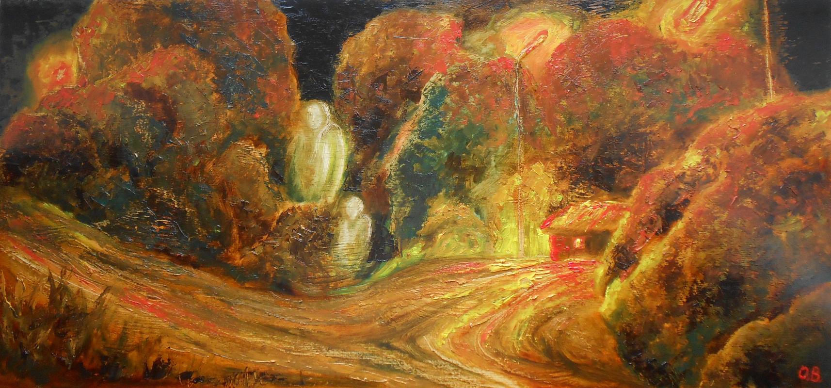 Владимир Иванович Осипов. Long-range flight, d/oil, expressionism, 10.17 g.©