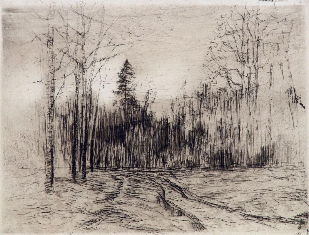 Исаак Ильич Левитан. Дорога в лесу
