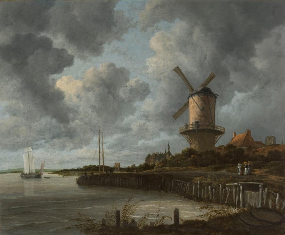Jakob van Isaacs Ruisdael. Wake Bay Duurstede Mill