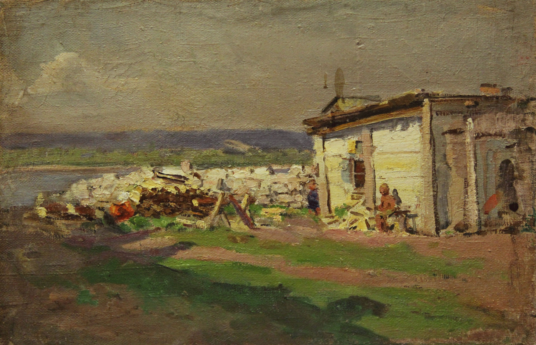 Vladimir Georgievich Gremitskykh. In the village on the Volga