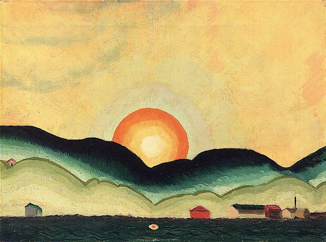 Arthur Dove. Sunrise northport harbor