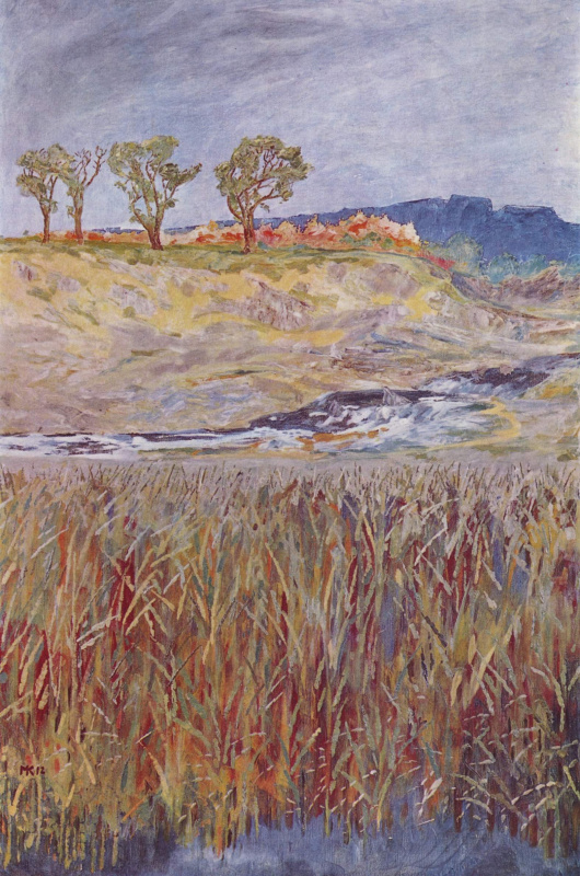 Макс Клингер. Пейзаж на реке Унструт
