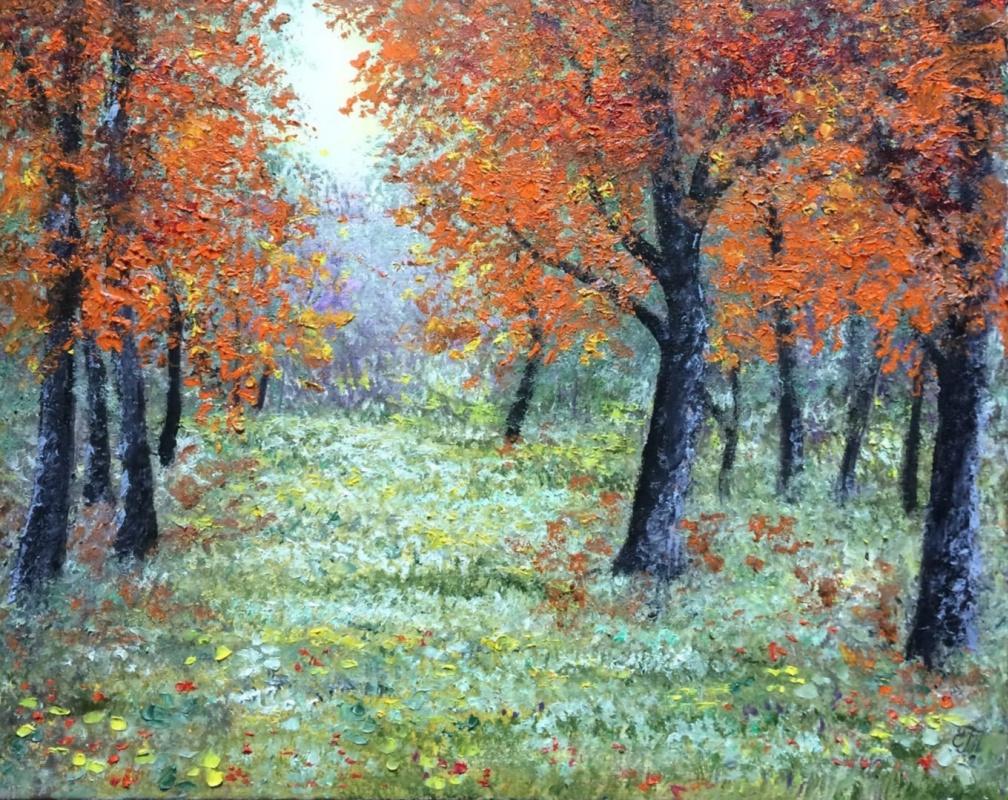 Galina Nikolaevna Silina. The sky was breathing in autumn ...