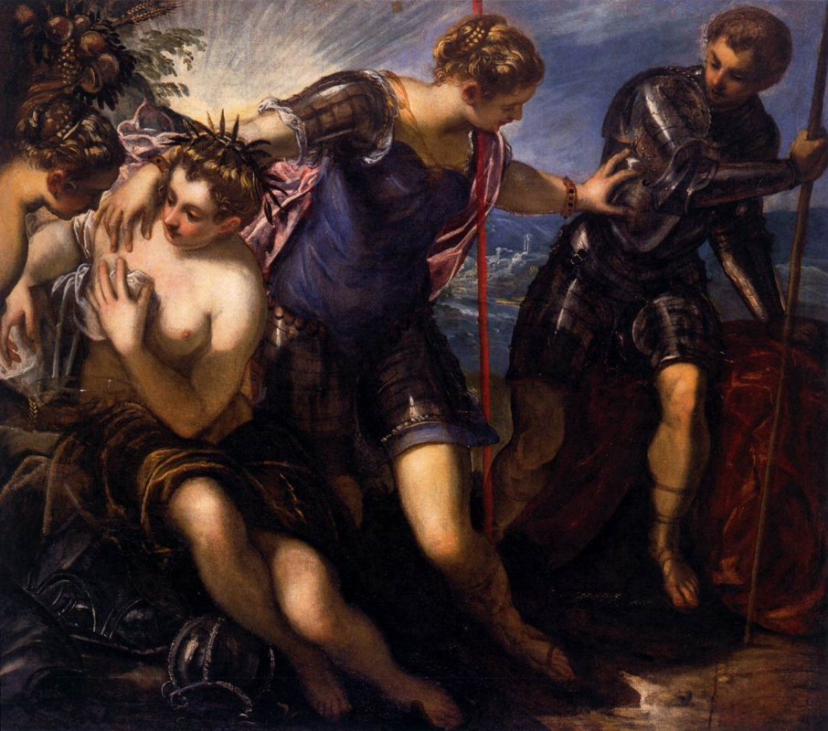 Jacopo (Robusti) Tintoretto. Minerva chases Mars from Peace and Prosperity