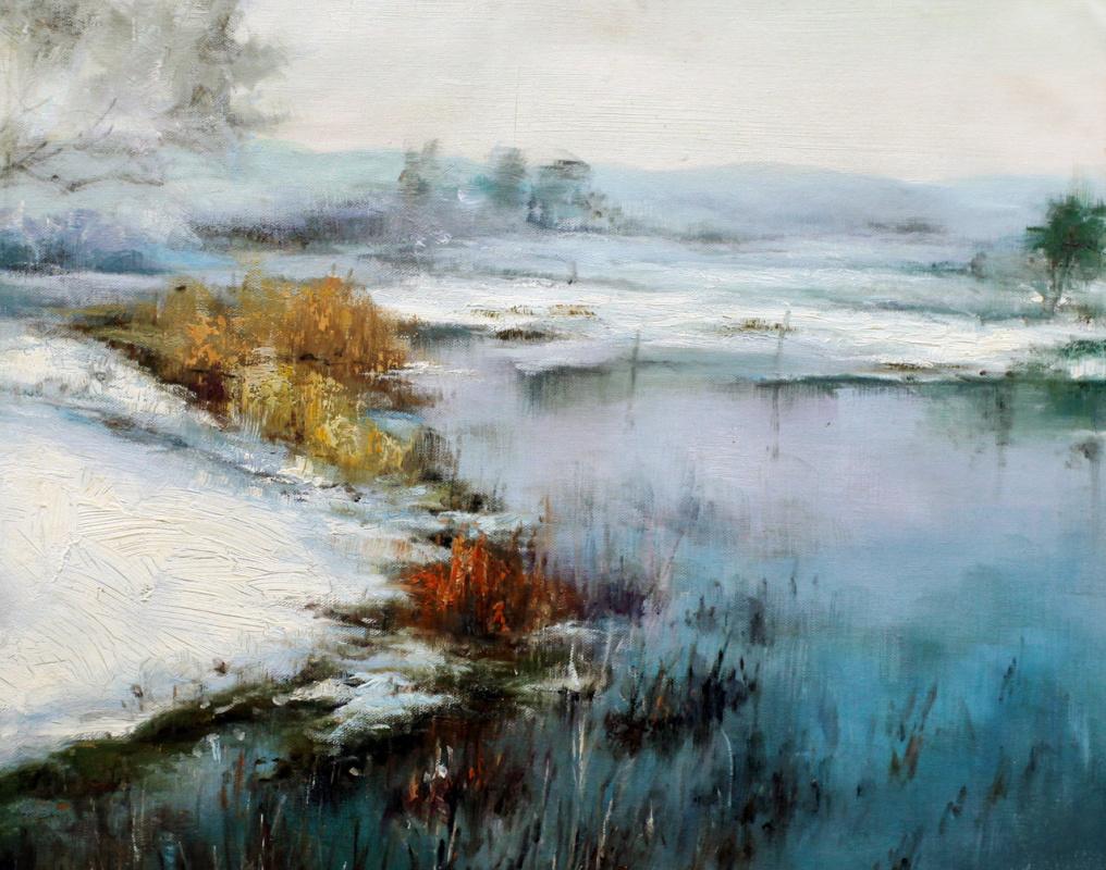 Андрей Шарабарин. Зимним днем у реки N2