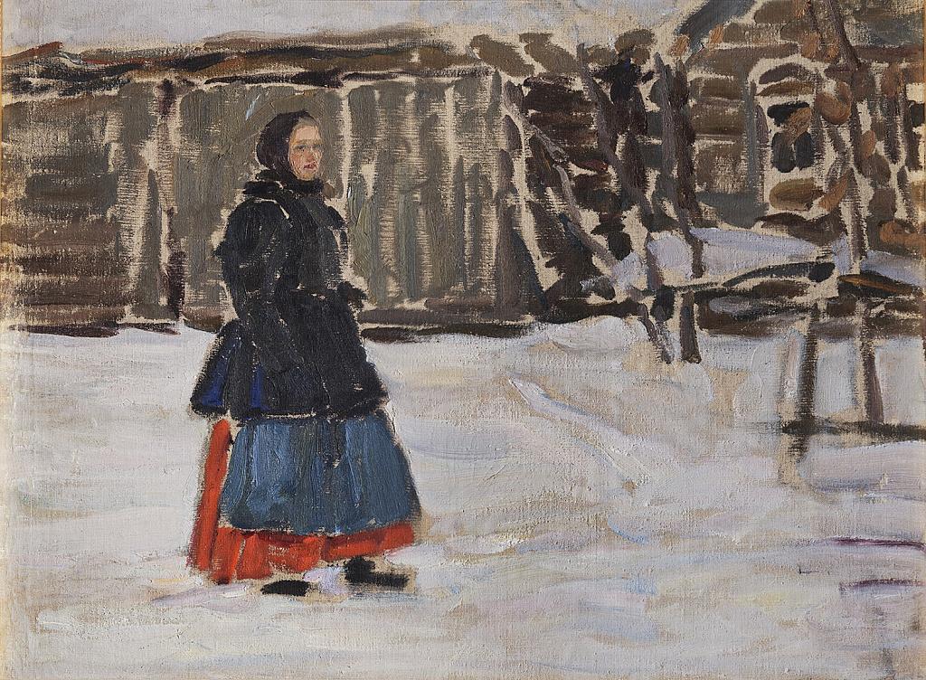 Николай Васильевич Мещерин. Девушка в красной юбке