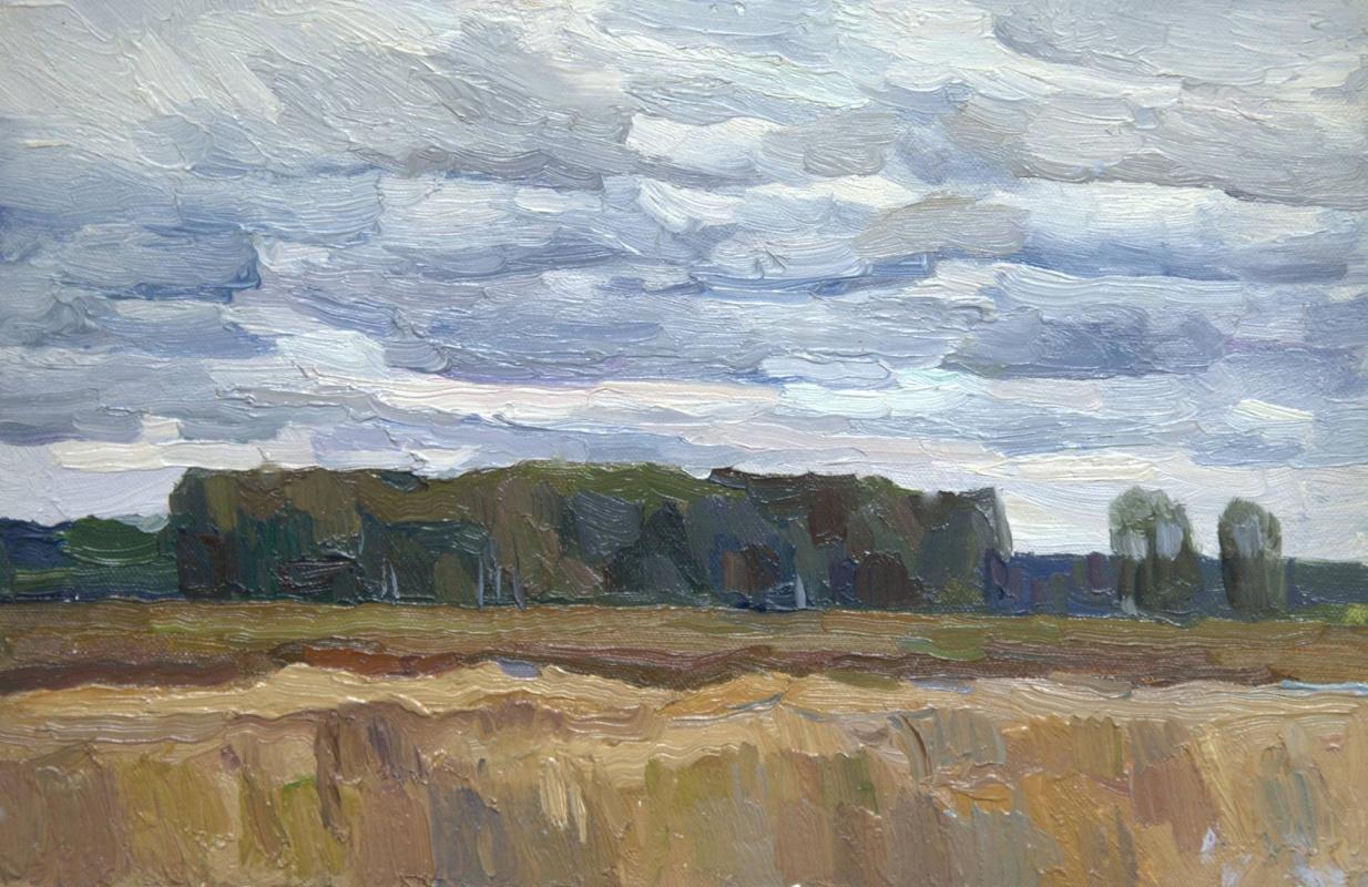 Oleg Borisovich Zakharov. Sketch in the field. August.
