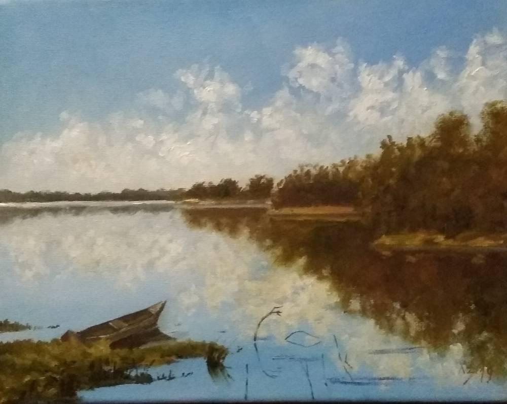 Сергей Николаевич Ходоренко-Затонский. Landscape with a boat