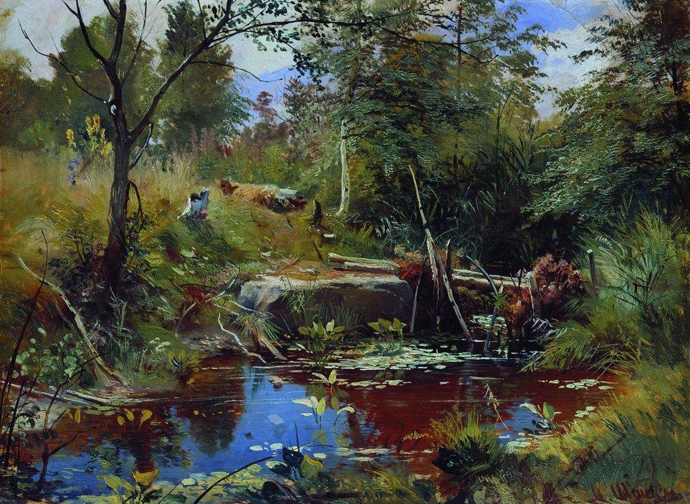 Иван Иванович Шишкин. Пейзаж с мостиком