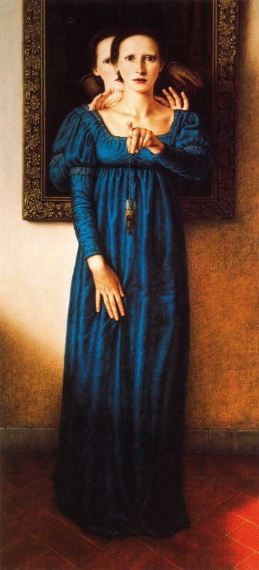 Dino Valls. The girl in the blue dress