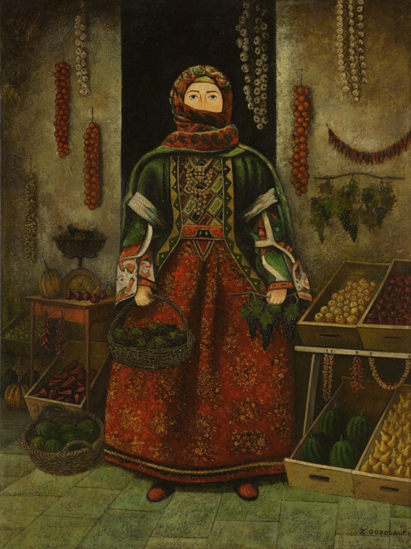 Gogolauri Zviad. Fruit saleswoman