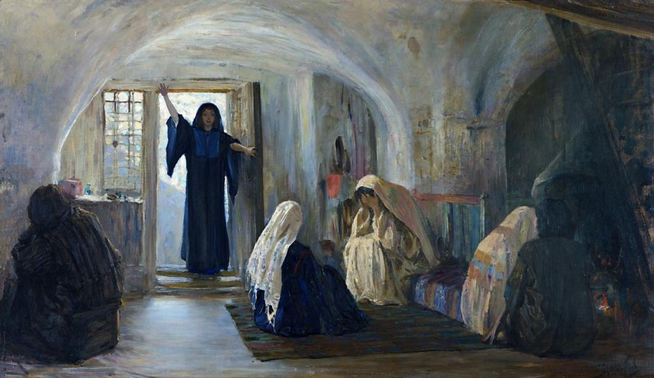 Vasily Dmitrievich Polenov. Heralded the joy of crying