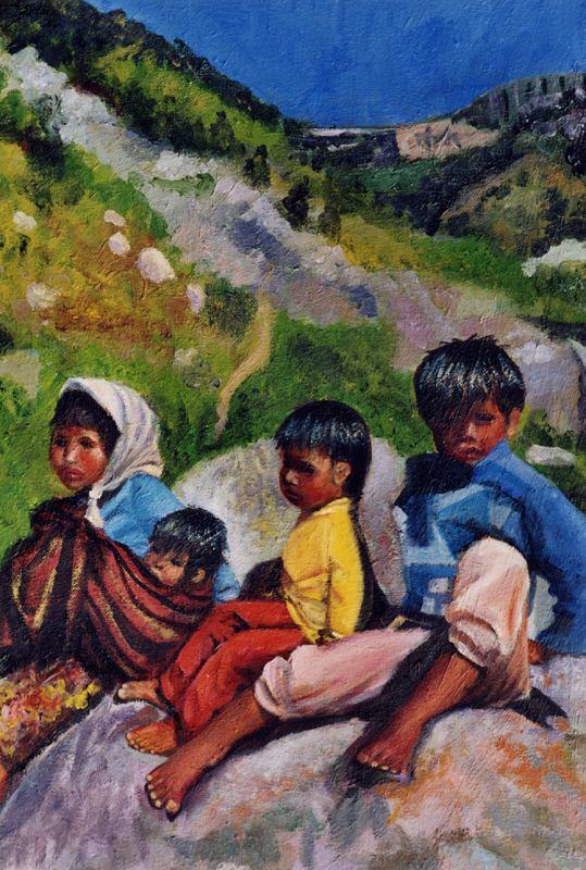 Боррего Руис. Дети