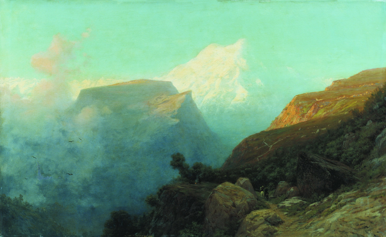Лев Феликсович Лагорио. Туман в горах. Кавказ