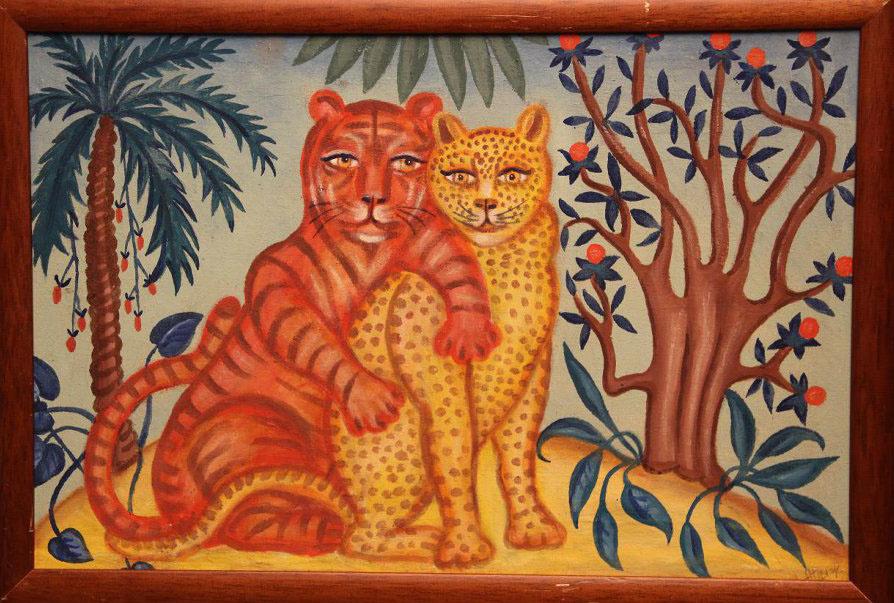 Alevtina Dmitrievna Pyzhova. Tiger with panther