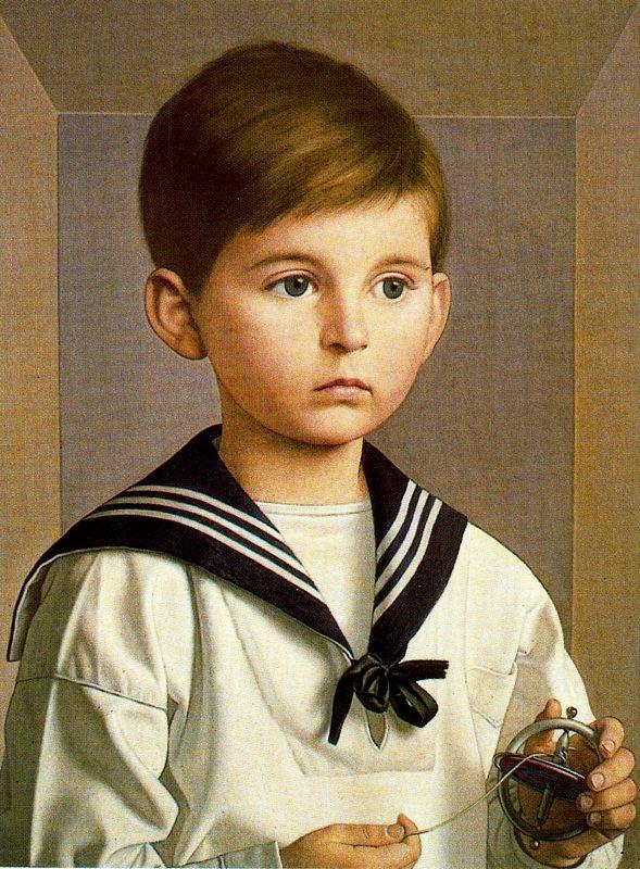 Антонио Буэно. Мальчик с игрушкой