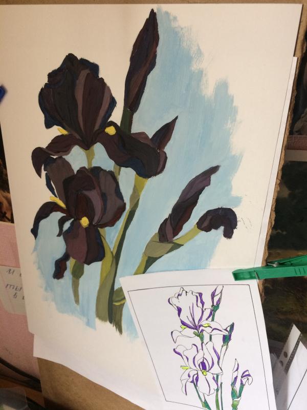 Alina Mironova. Irises