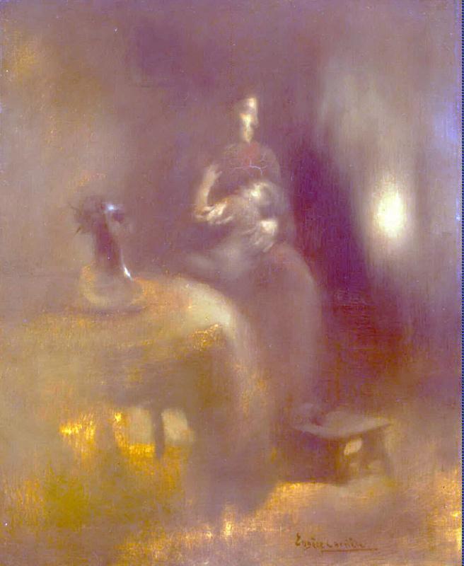 Женщина с ребенком на коленях