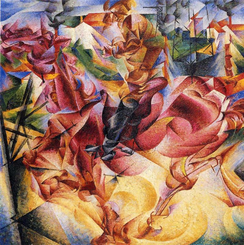 Umberto Boccioni. Elasticity