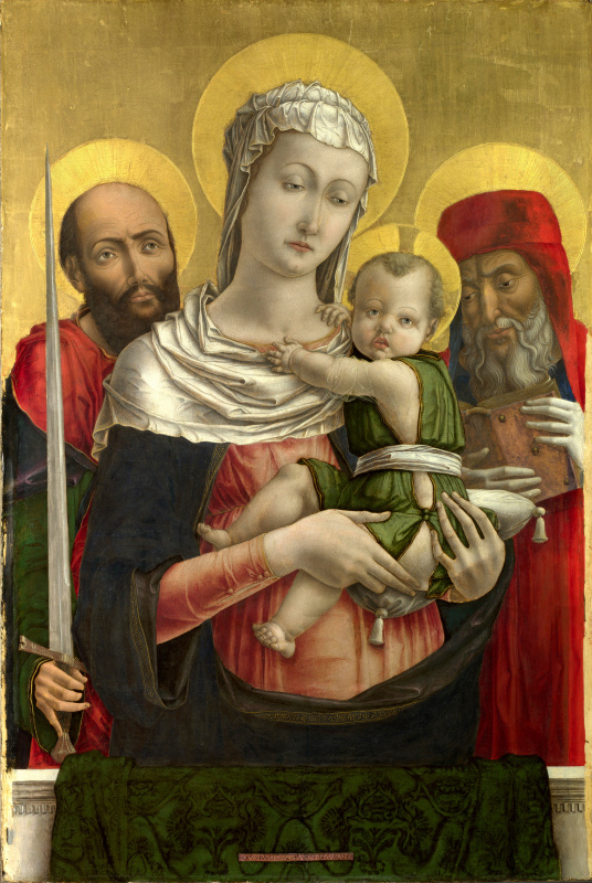 Bartolommeo Vivarini. The virgin and child with saints Paul and Jerome