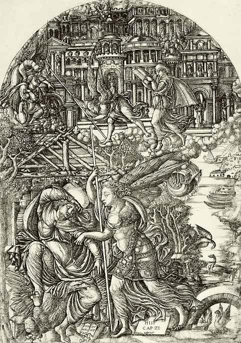 Жан Дюве. Во сне ангел показывает Иоанну Новый Иерусалим