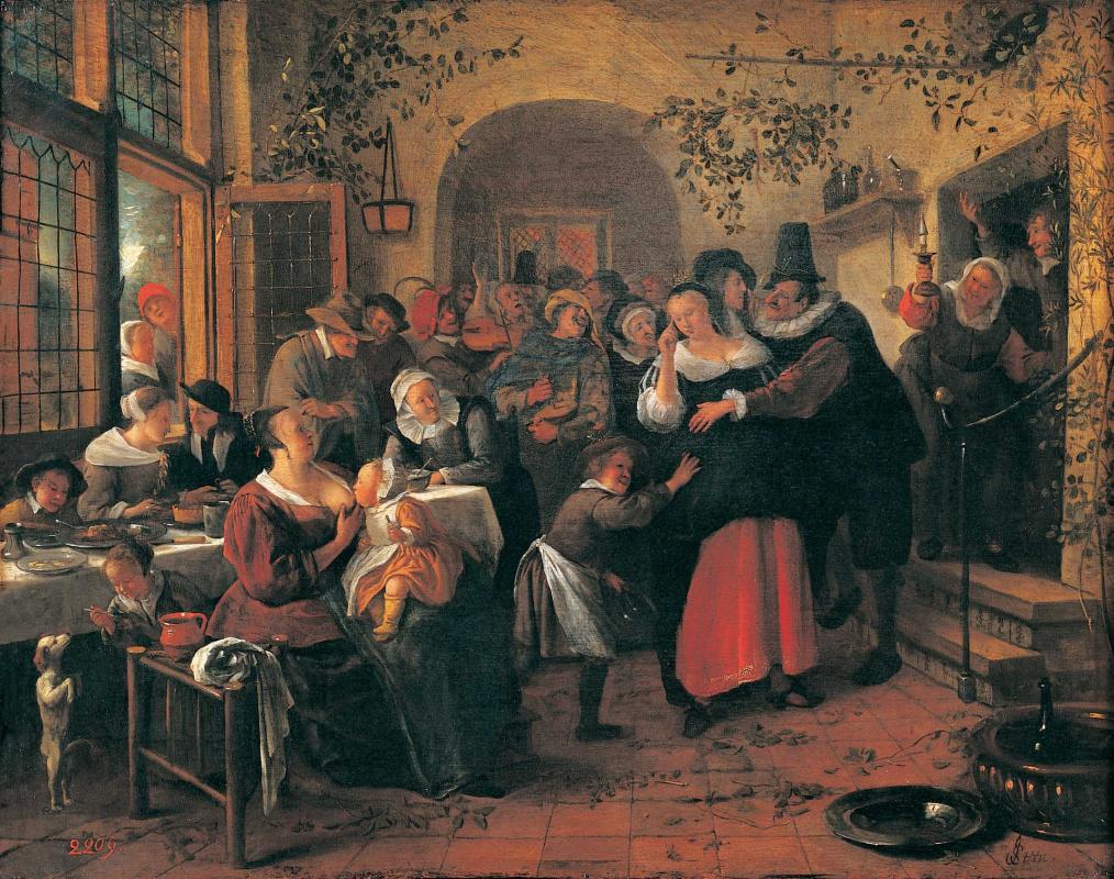 Jan Steen. Peasant wedding