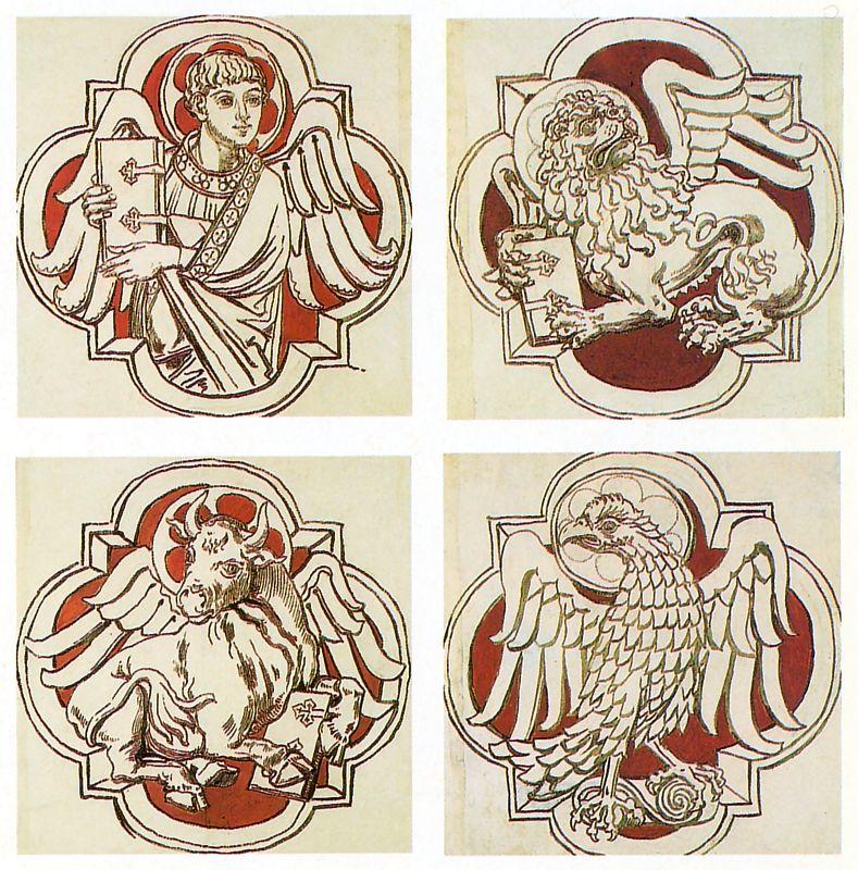 Ян Матейко. Эмблемы евангелистов. Проект для церкви Святой Марии в Кракове
