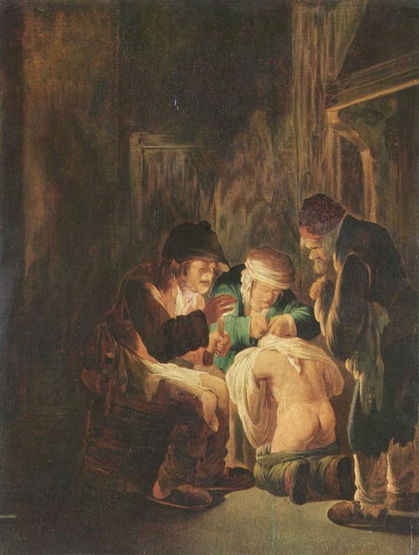 Андриес Бот. Ловля блох при свете свечи