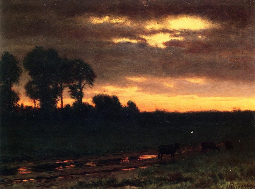 Альберт Бирштадт. Закат. Висконсин