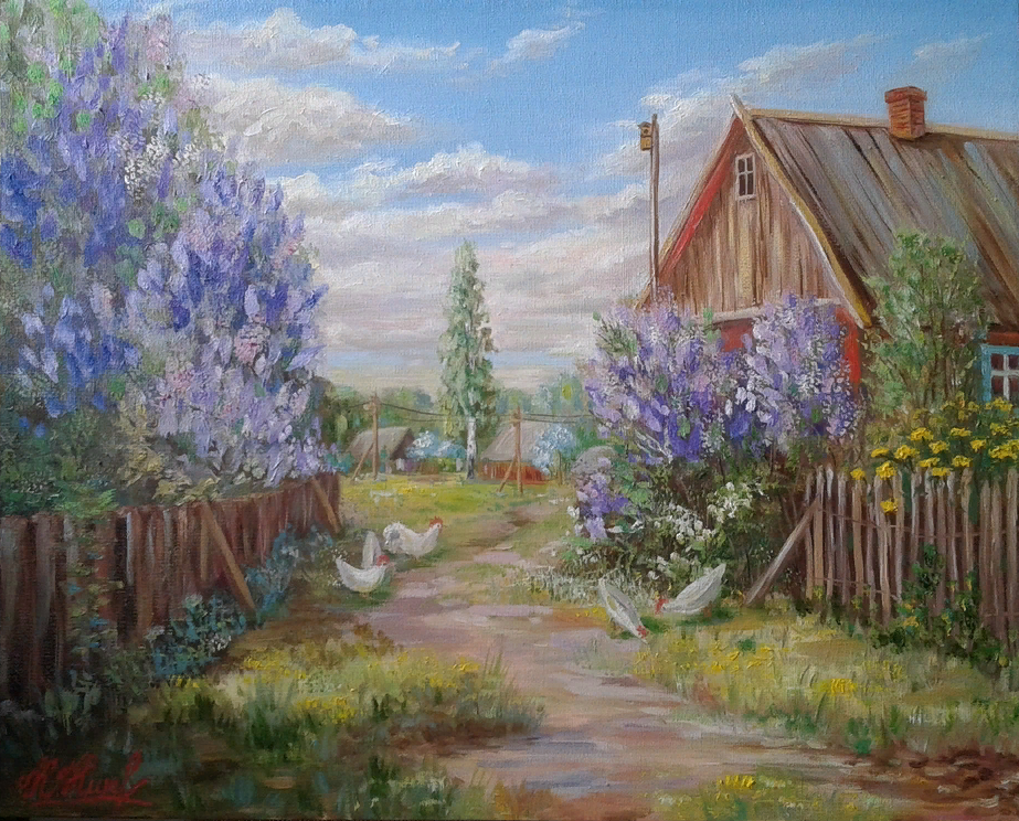 Kristina Nikolaenko. Spring is in the yard