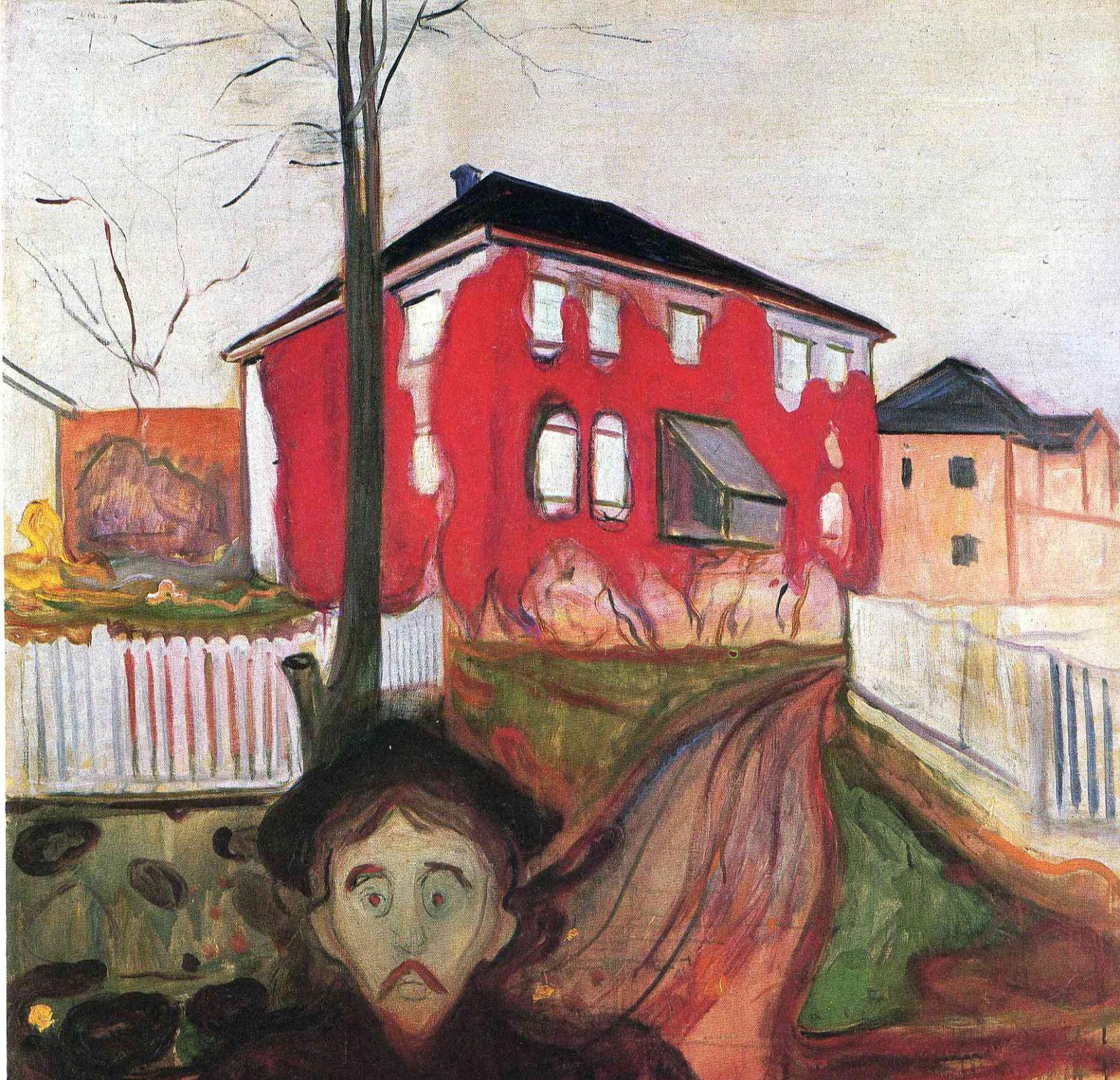 Edvard Munch. Red ivy