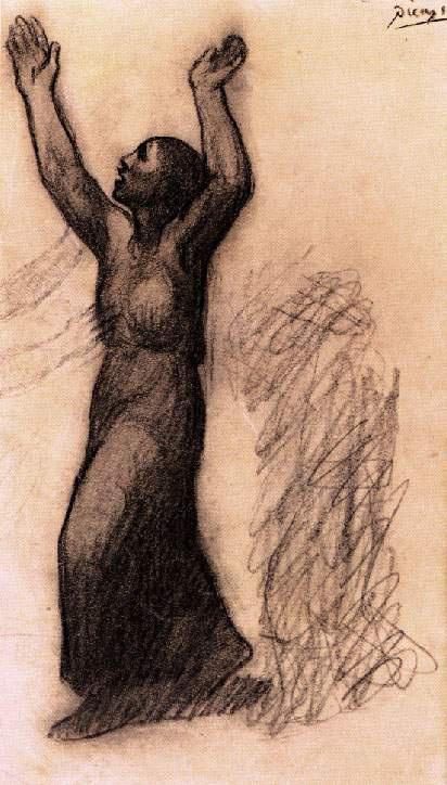 Пабло Пикассо. Женщина с поднятыми руками