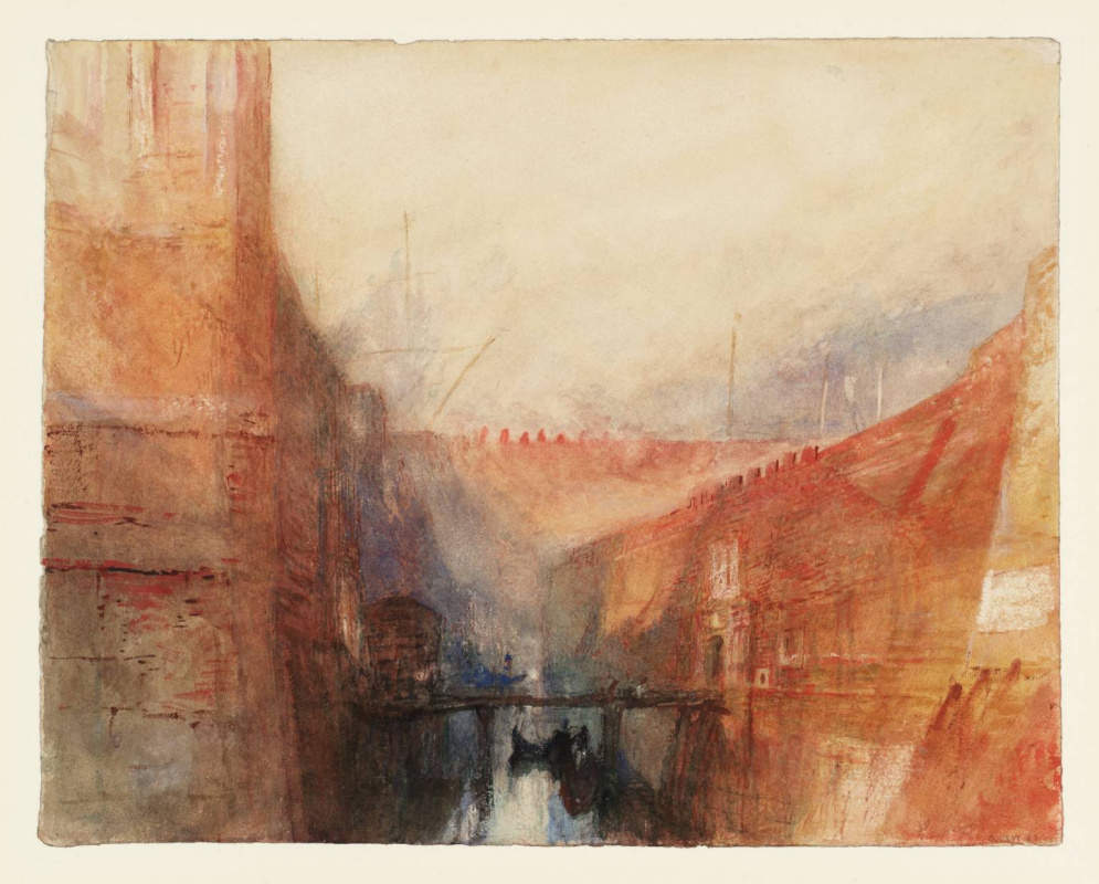 Joseph Mallord William Turner. Venice: an imaginary view of the Arsenal