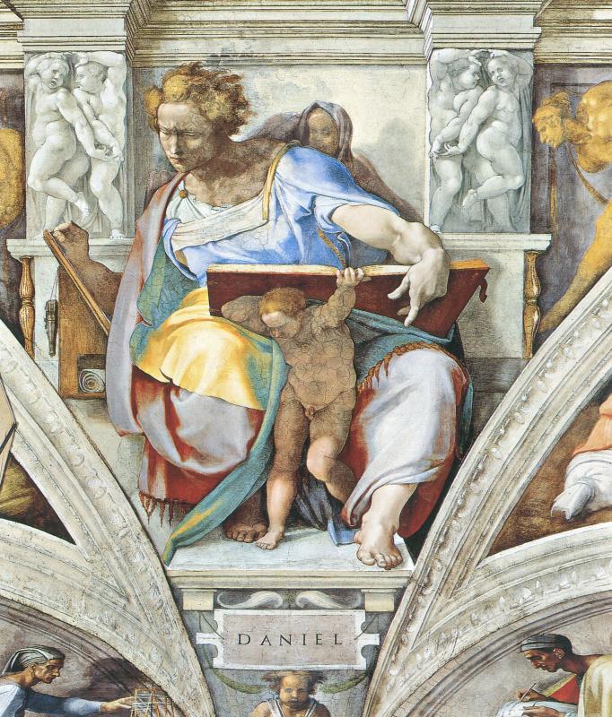Michelangelo Buonarroti. The Prophet Daniel