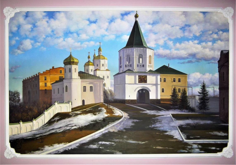 Ruslan Vasilievich Derevtsov. View of the Molchensky Monastery