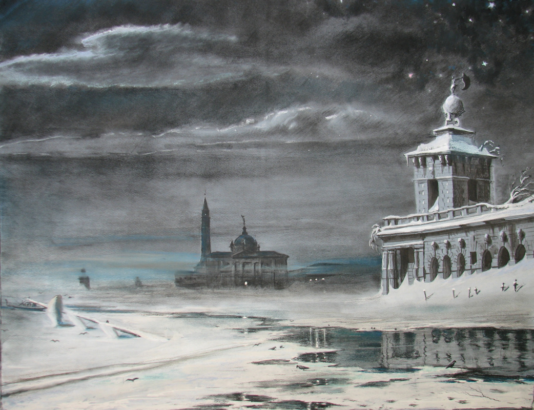 Andrey Noarov. The San Giorgio.Moonlit night.