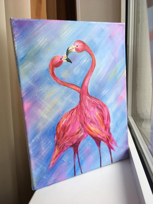 Alfiya Nafikova. Влюбленные фламинго