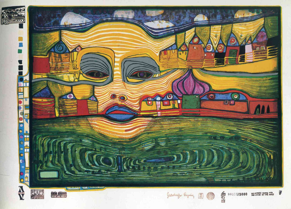 Friedensreich Hundertwasser. Irina Land over the Balkans