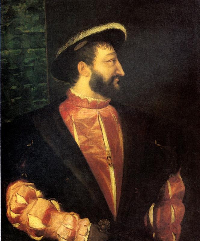 Тициан Вечеллио. Портрет Франциска I, короля Франции