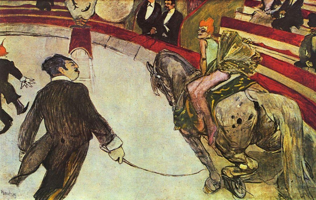 Анри де Тулуз-Лотрек. В цирке Фернандо. Наездник