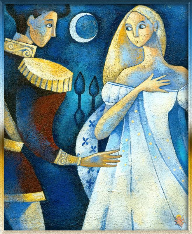 Алида Массари. Принц Зигфрид говорит с Одеттой