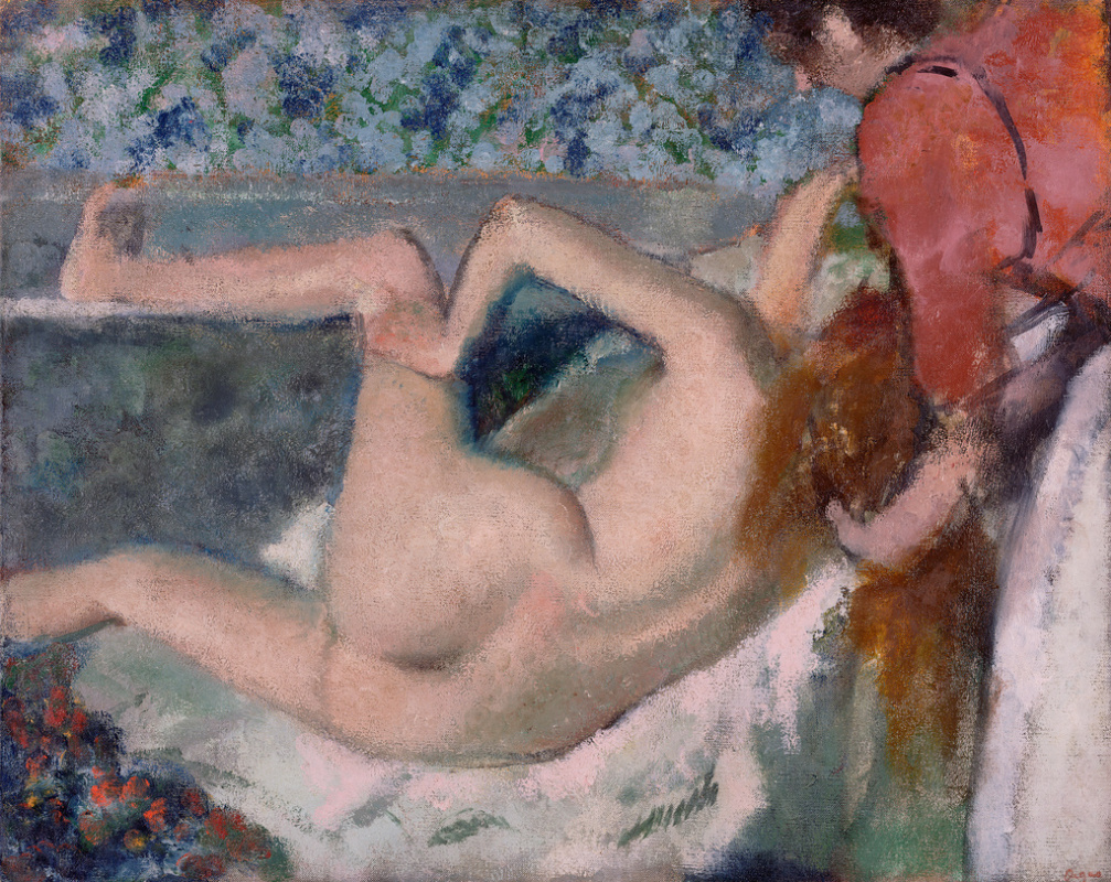 Edgar Degas. After a bath. A woman, seen from behind