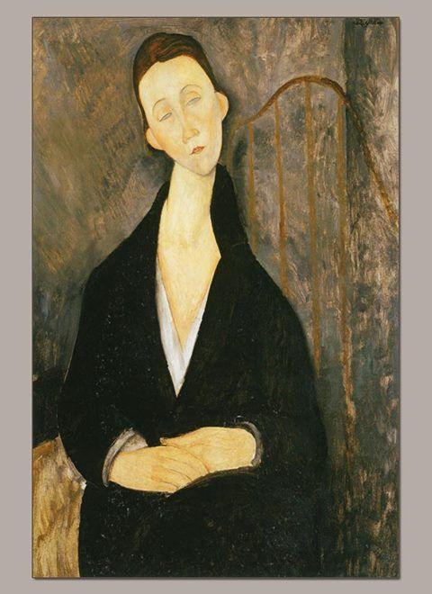 Amedeo Modigliani. Portrait Lunii in black
