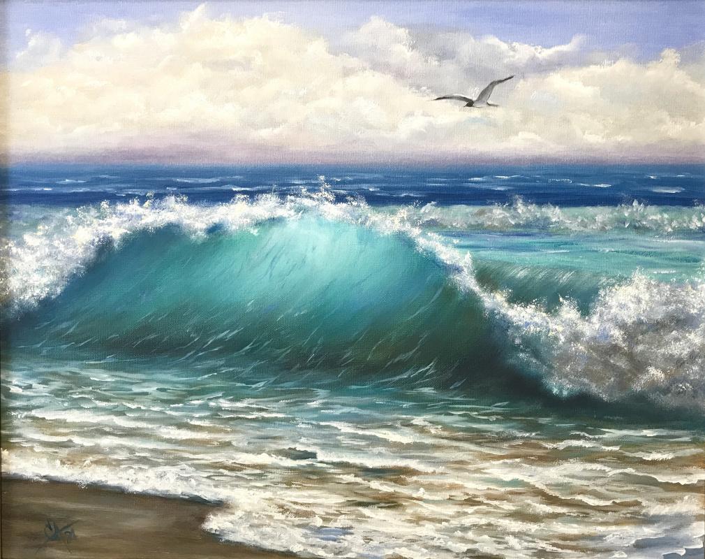 Svetlana Arkhipova. Seagull over the wave