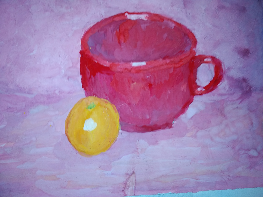 Zina Vladimirovna Parisva. Tangerine still life