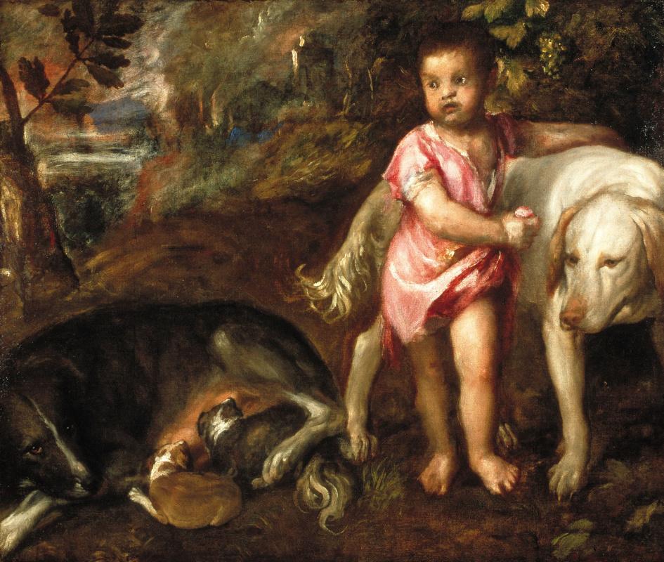 Тициан Вечеллио. Мальчик с собаками