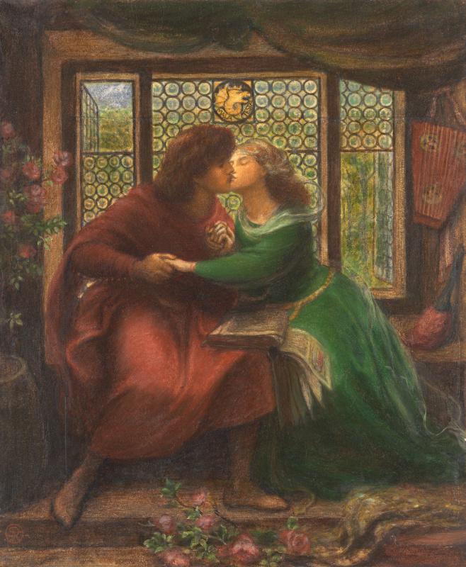 Dante Gabriel Rossetti. Paolo and Francesca da Rimini