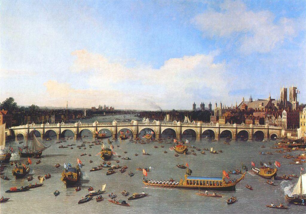 Джованни Антонио Каналь (Каналетто). Лондон, Вестминстерский мост