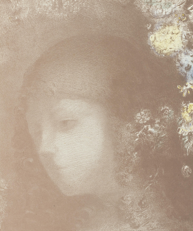 Odilon Redon. The baby's head in the colors